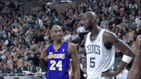 Watch Garnet & Kobe Last Days In The NBA GIF by $$$ (@kennysmith30) on Gfycat. Discover more celebs, kevin garnett, kobe bryant GIFs on Gfycat