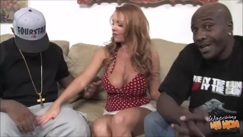 Janet Mason's pussy gets double stuffed by two monster cocks