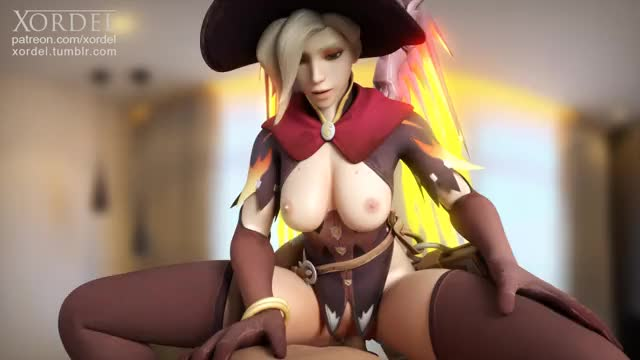 Mercy riding healing a cook (Xordel)