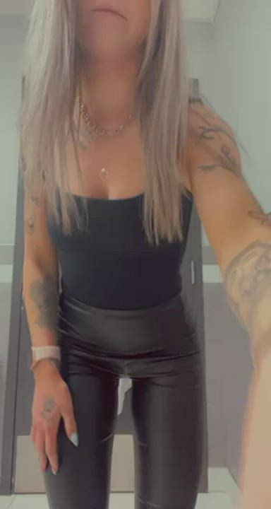Guess what this horny milf did at work..