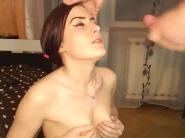 absurd facial completely drenches cam girl 2