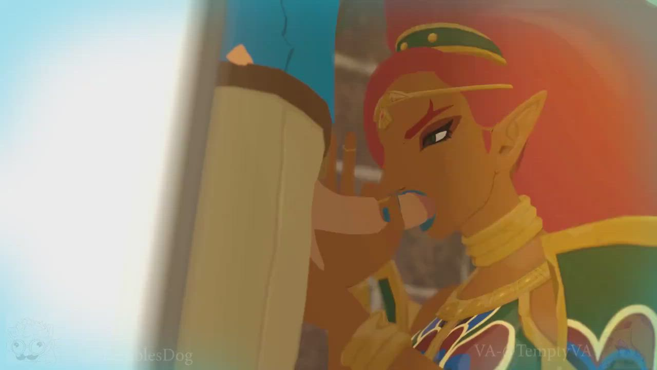 Urbosa helping out Link with some stress relief (ShamelessDeeg) [The Legend of Zelda]