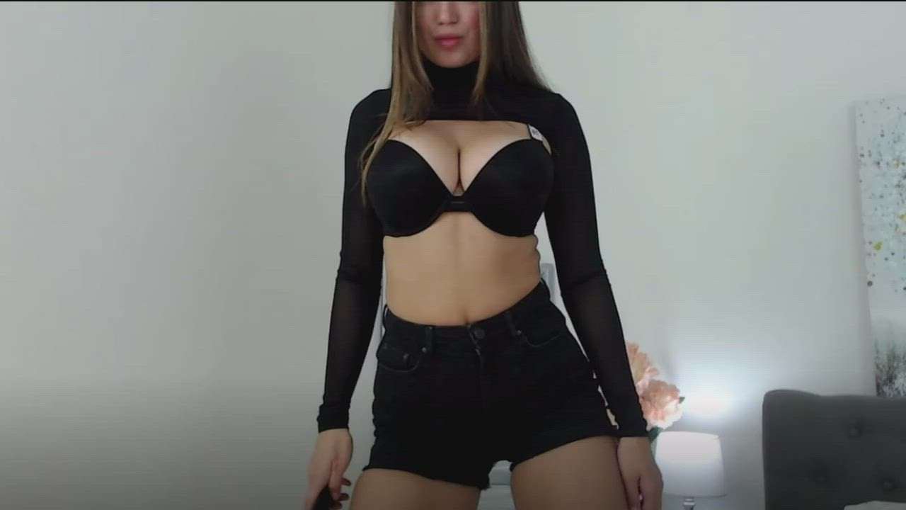 The Perfect Top for Showing Off Her Bombshell
