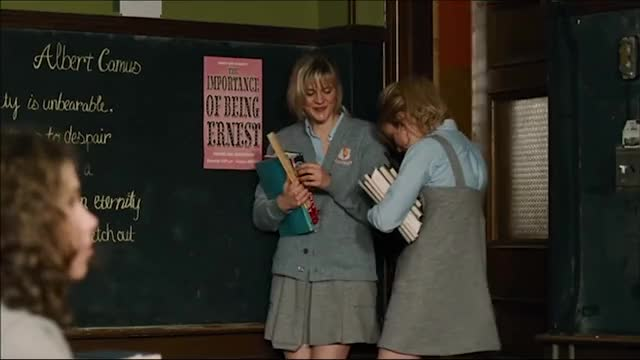 Brie Larson - Tanner Hall (2009) - flirting with teacher during class