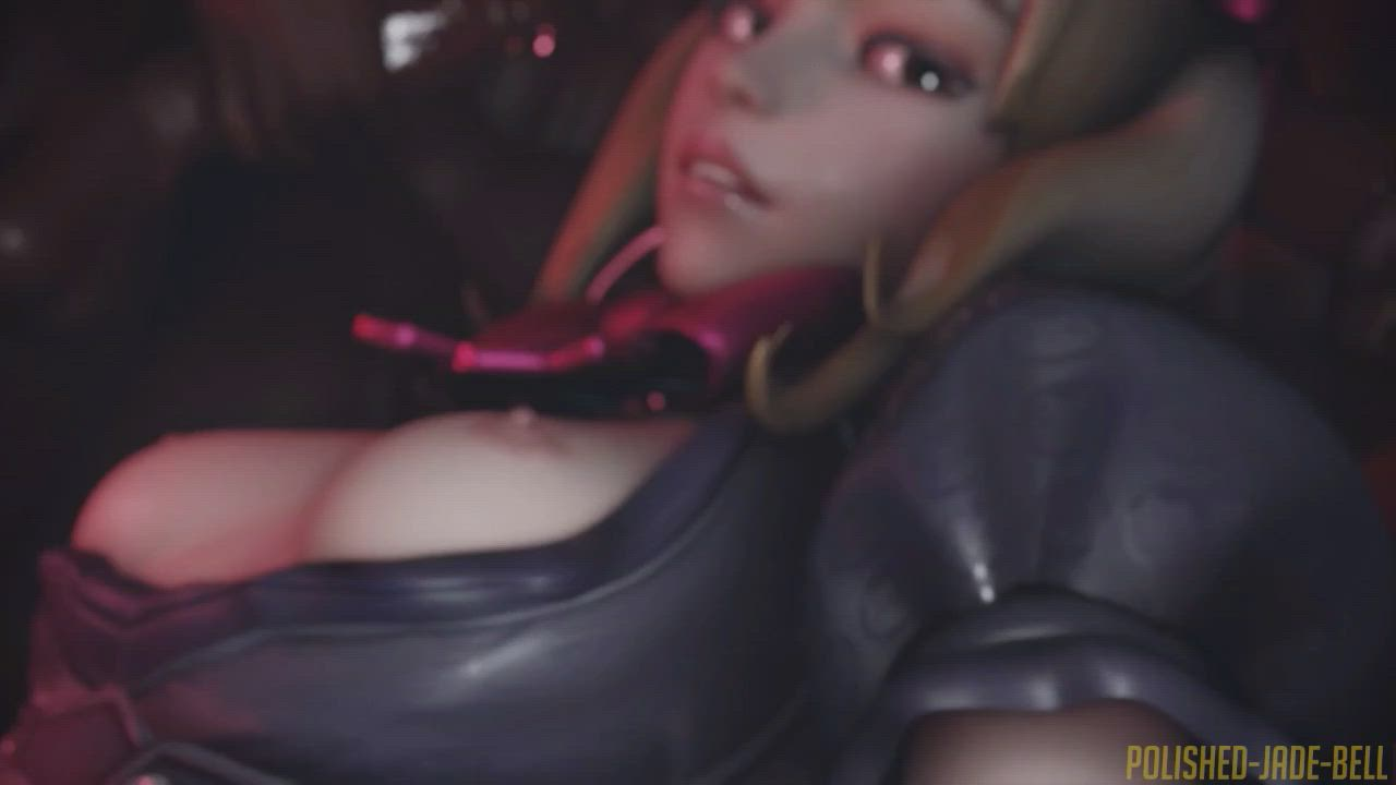 Dva black cat Group cum (with sound) (Polished Jade Bell) [overwatch]