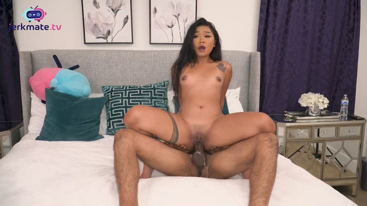 Tiny Asian Grooling Over a BBC