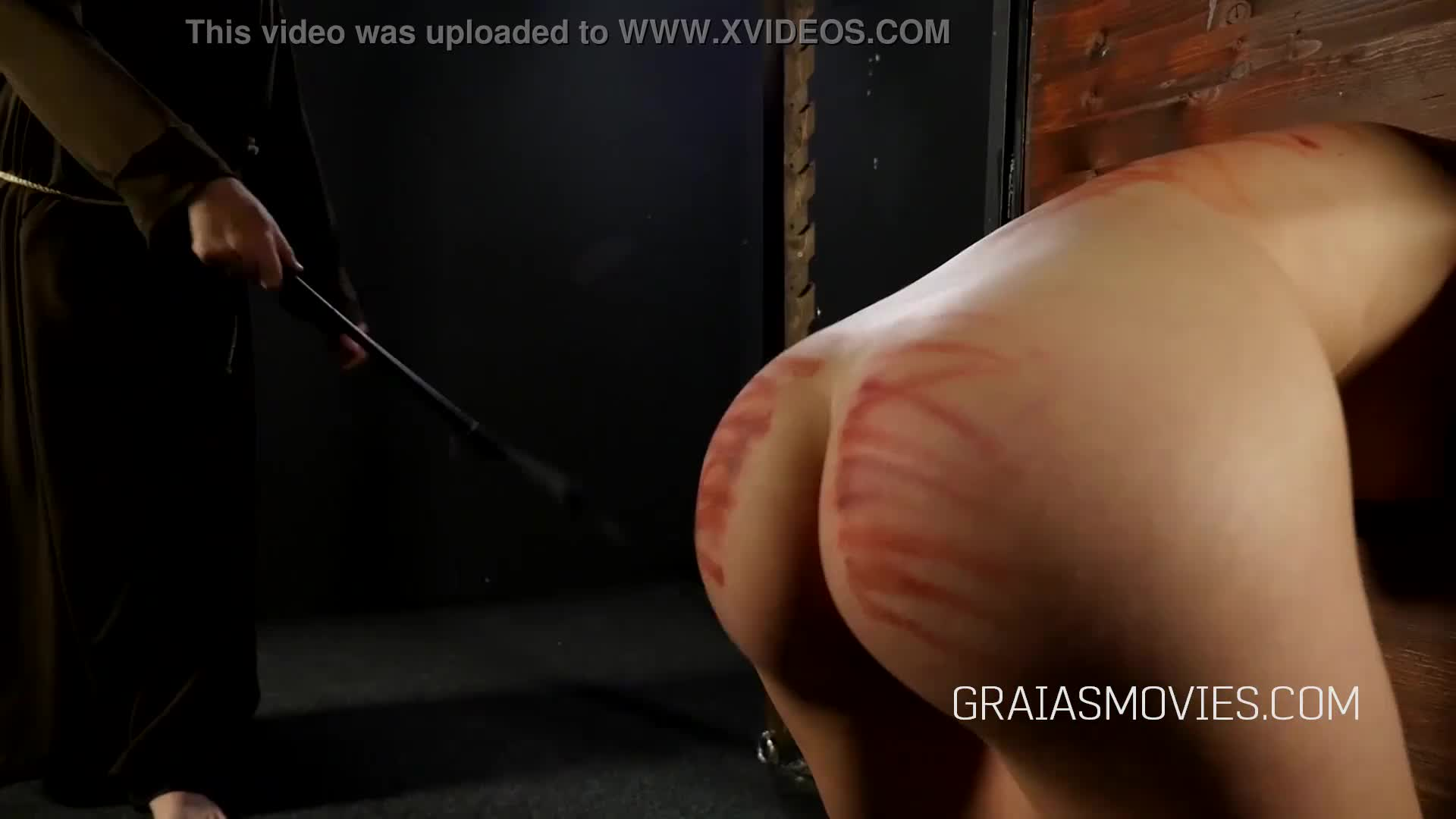Beautiful girl whipped over and over