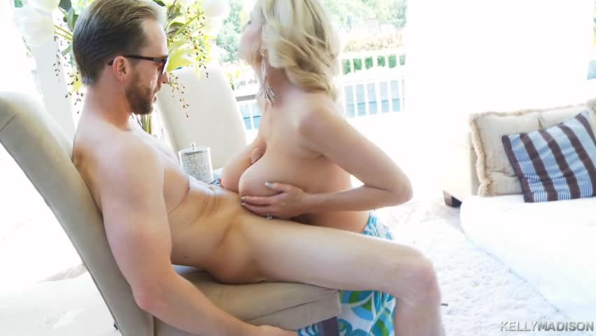 Kelly And Ryan Enjoy A Kneeling Lubed Titfuck