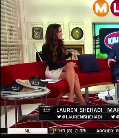 lauren Shehadi showing off her sexy legs