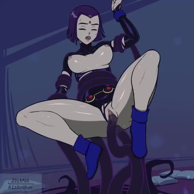 Raven getting tentacled (Zelamir)