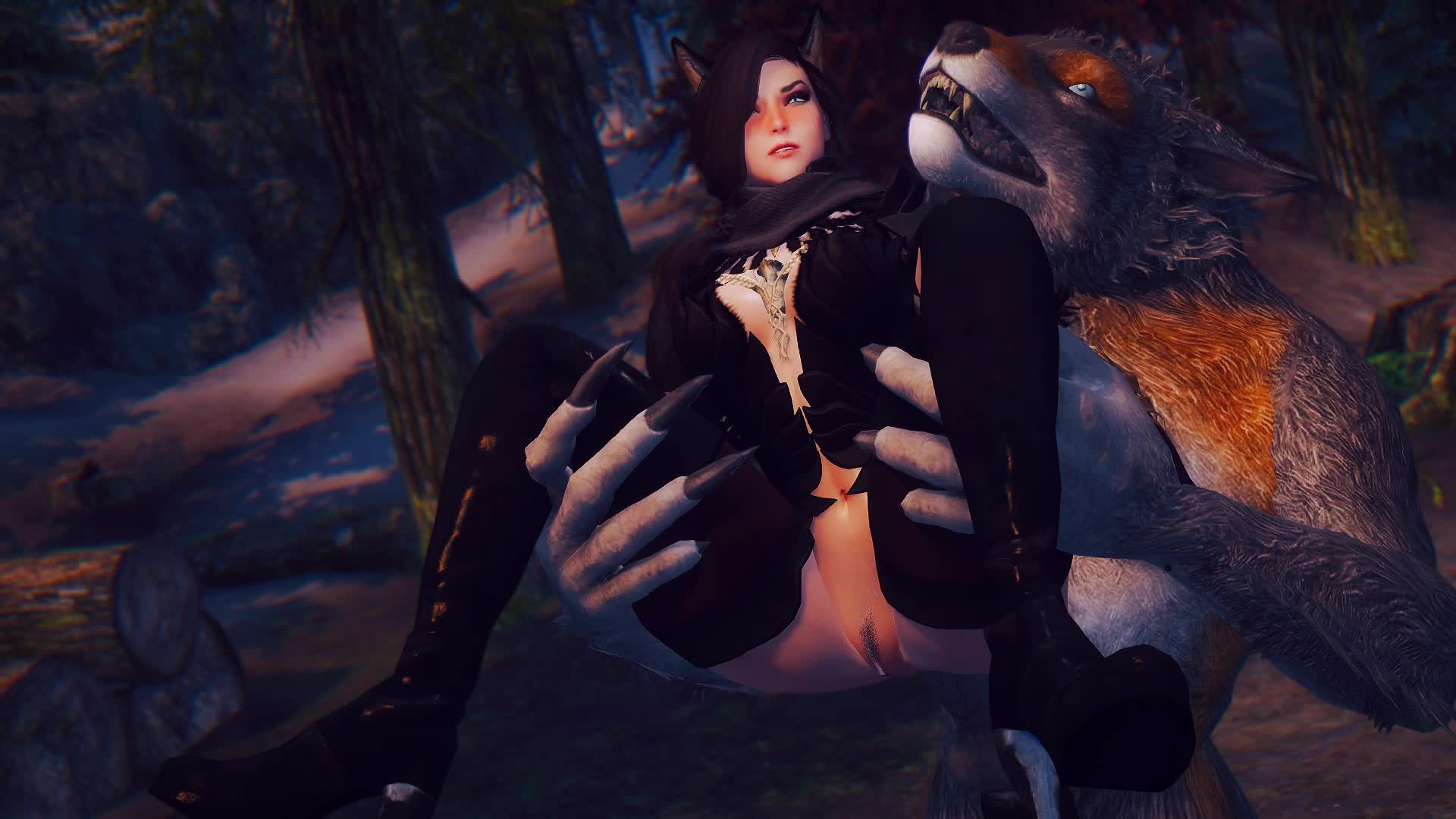 If a werewolf fucks a catgirl in the woods and no ones there to hear it