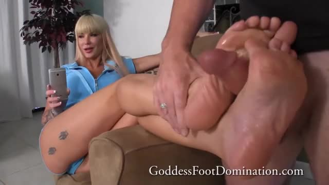 putting Her Feet To Good Use