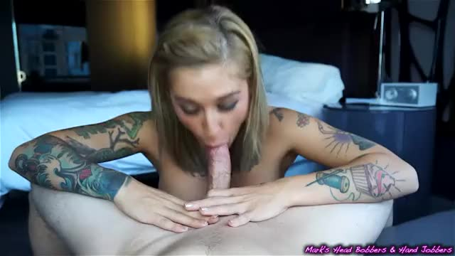 Tattooed Girl Sucks Him Off