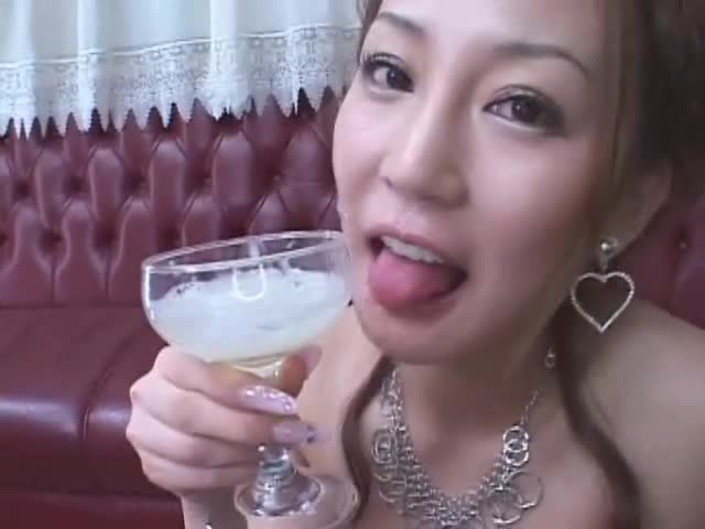 Woman drinks 16 cumshot cocktail