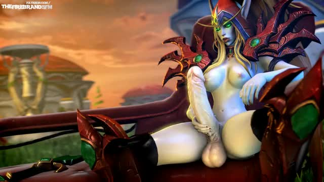 Valeera stroking her cock (The Firebrand)